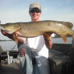"5 casts yielded a 41"" musky, a 37"" pike and a 37.5"" pike while filming in June 2012.  The pike came on back to back casts!"