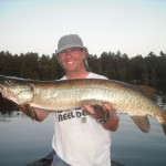 Single angler landed 4 of 8 hooked fish and a bonus pike on his 5th time musky fishing! July 2012