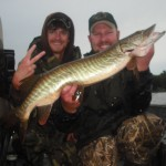 A nice double in the rain and a personal best casting tiger for Matt. September 2012.