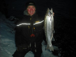 First steelhead for Scott on his first time steelhead fishing!  Landed 7 and lost several more in 6 hours of fishing!