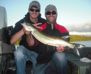 Fish 2 of 3 on a half day outing on Jon's first time musky fishing.  Congrats Jon!
