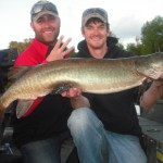 Fish 3 of 3 on a half day outing on Jon's first time musky fishing.  Congrats Jon!
