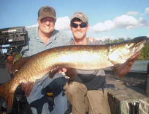 A nice Vilas county musky on a half day outing. July 2014