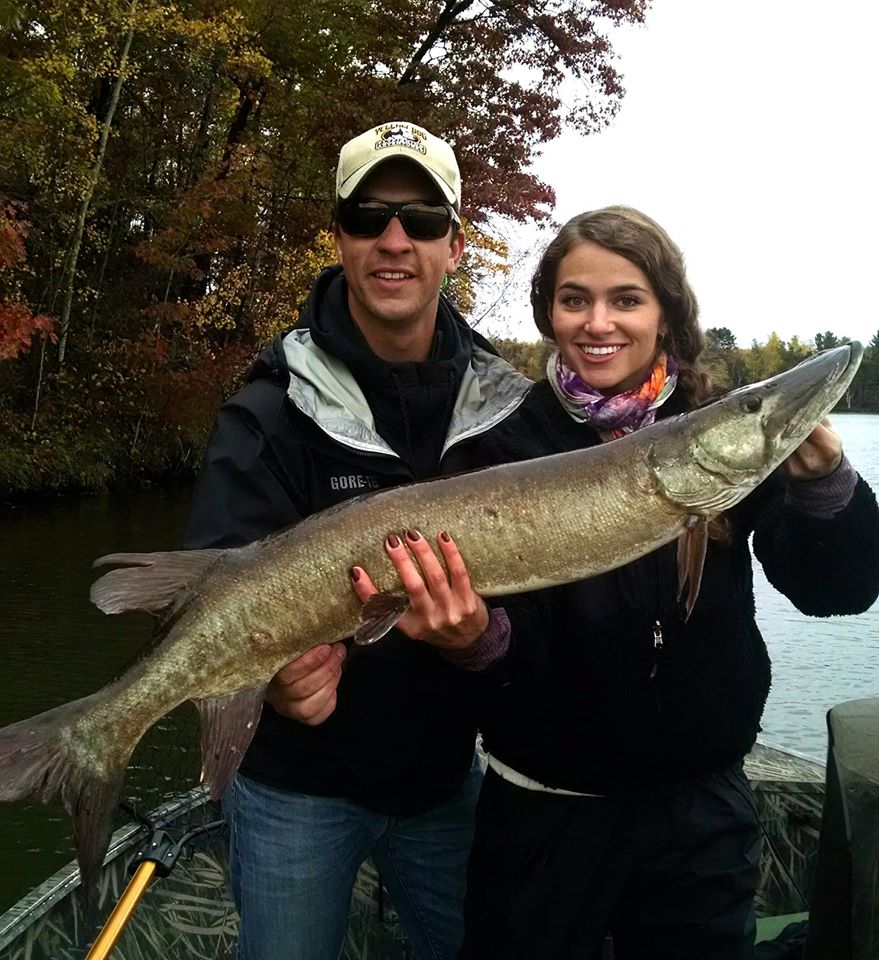 70b wdh guide service for Muskie fishing wisconsin